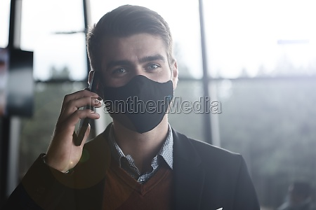 business man wearing coronavirus medical