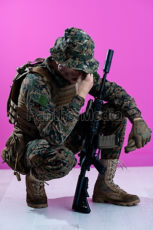 soldier with problems