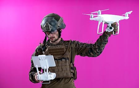 soldier drone pilot technician