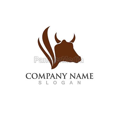 cow logo template vector icon