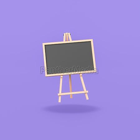 blank blackboard on purple background