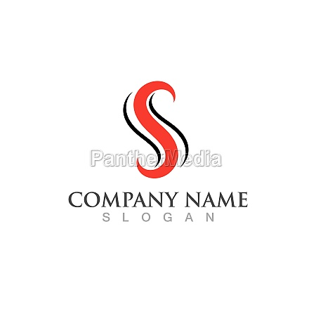 s letter logo and symbol vector