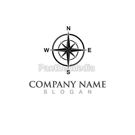 compass logo vector illustration design image
