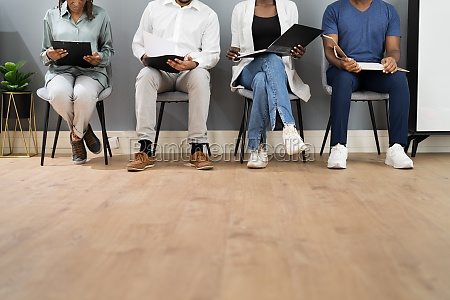 african american unemployed job applicants waiting