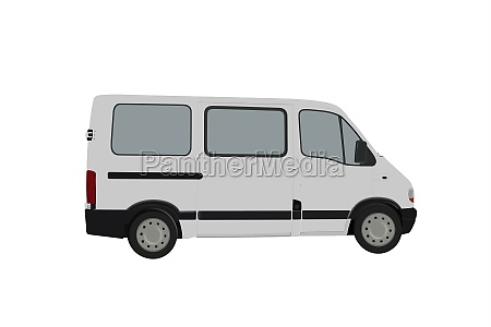 passenger van illustrations 3d