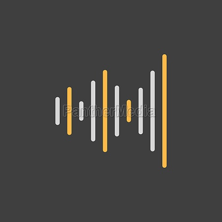 equalizer frequency vector icon on dark