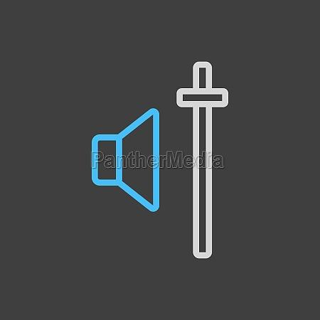 audio volume slider control icon dark