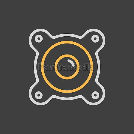 acoustic speaker vector flat icon on