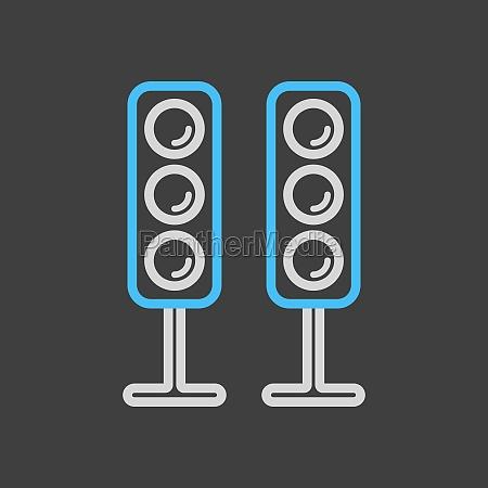 sound system speakers vector icon dark