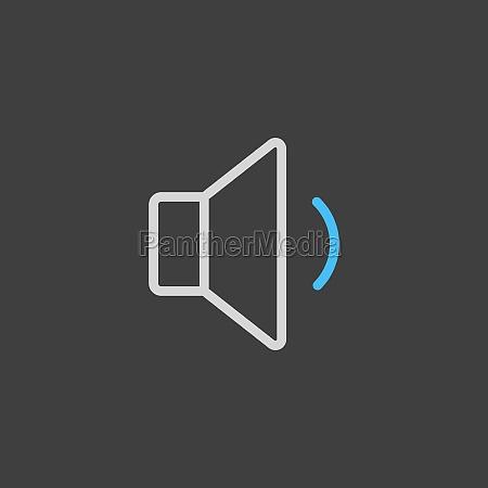 minimum volume sound music vector flat