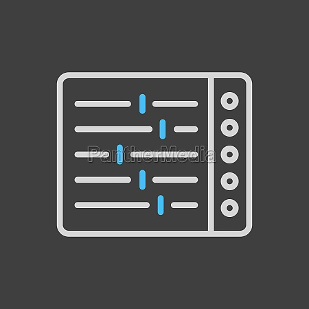 mixing console vector flat icon on
