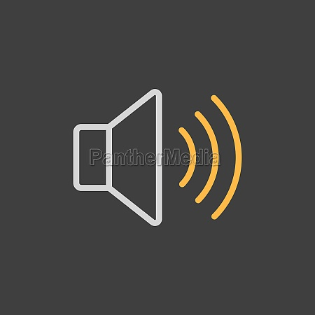 max volume high vector icon on