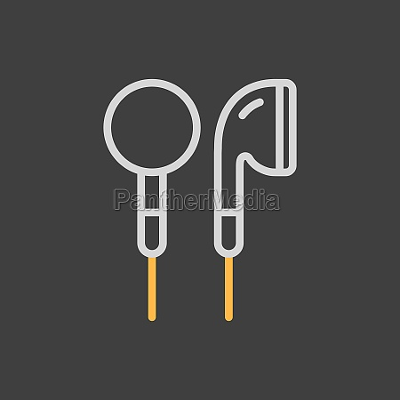 ear bud headphone vector icon on
