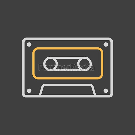 audio cassette tape vector icon on