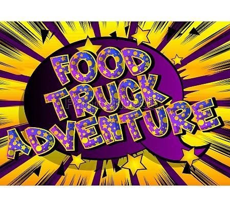 food truck adventure comic book style