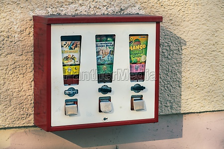 vintage chewing gum vending machine