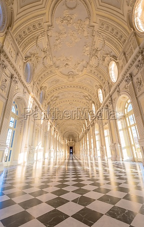 gallery interior with amazing luxury marble