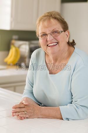 portrait of beautiful senior adult woman