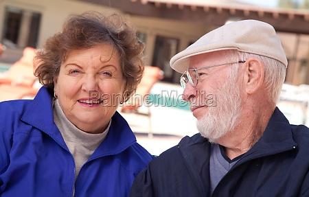 happy senior adult couple