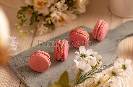 french macarons almond sandwich cookies