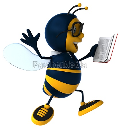 3d illustration of a business bee