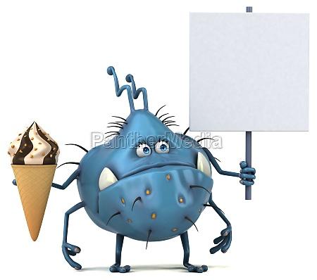 fun germ 3d illustration