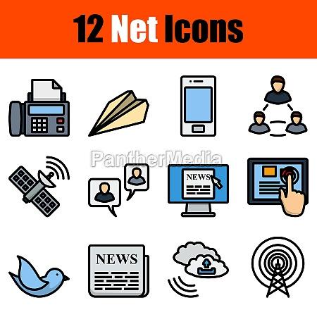 net icon set