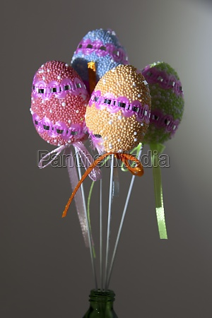 easter eggs multicolored artificial easter eggs