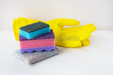 preparation for cleaning the house washcloths
