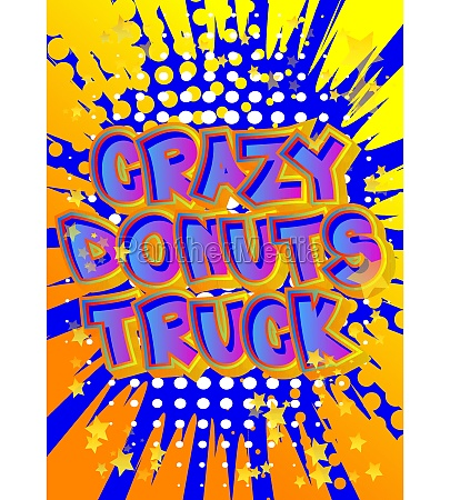 crazy donuts truck comic book