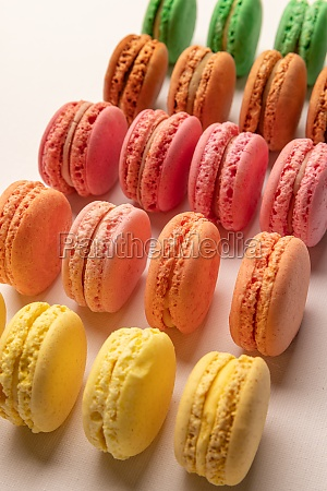colorful macarons cakes