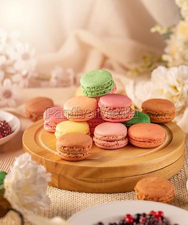 macarons delicate sandwich cookies