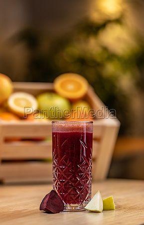 healthy beetroot and apple juice