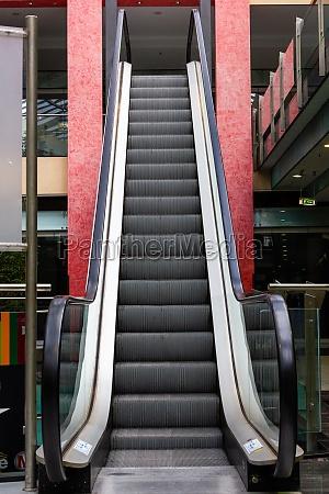 escalator in department store modern escalator