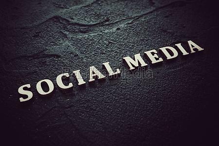 social media text message on black