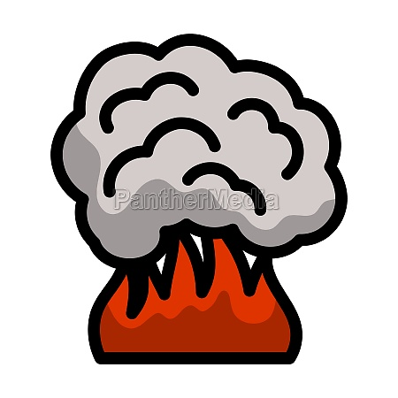 fire and smoke icon