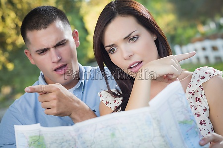 lost and confused mixed race couple