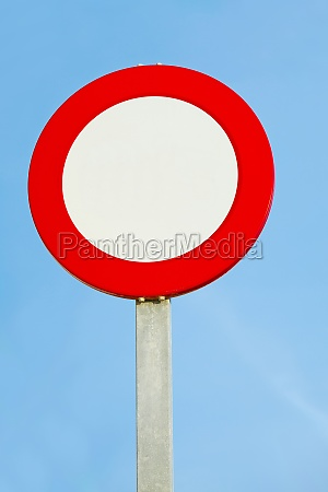 blank speed limit or no entry