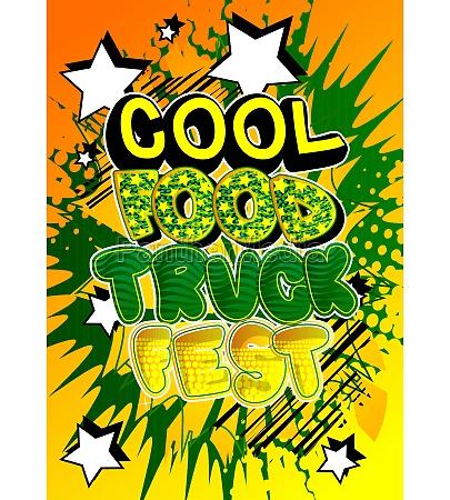 cool food truck fest comic