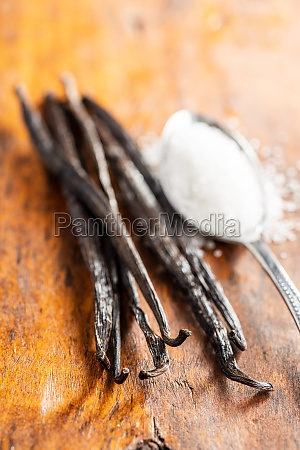 vanilla pods sticks of vanilla with