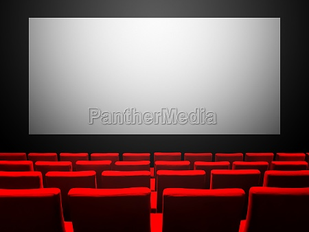 cinema movie theatre with red seats