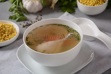 chicken soup chicken broth with