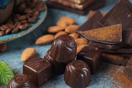 chocolate sweets chocolate bar pieces background