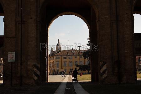 arc of palazzo della pilotta parma