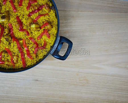 traditional spanish and tasty seafood paella