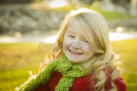 little girl wearing winter coat and