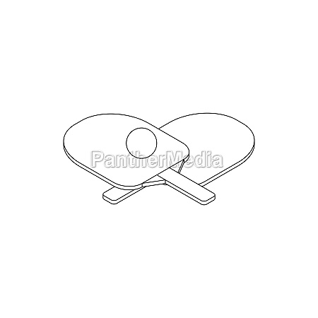 table tennis icon isometric 3d style