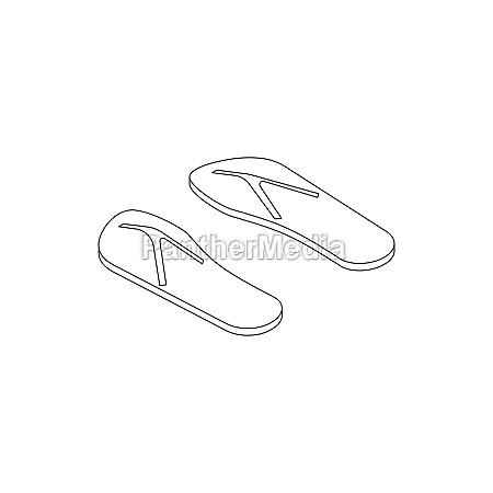 flip flops icon isometric 3d style