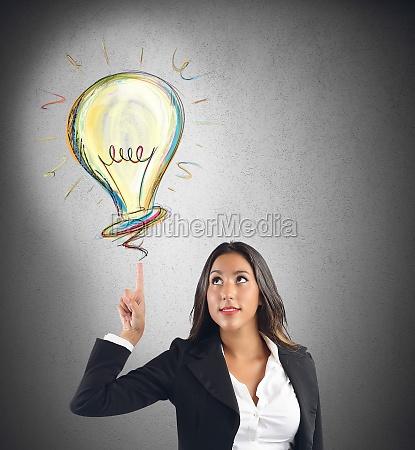 businesswoman idea