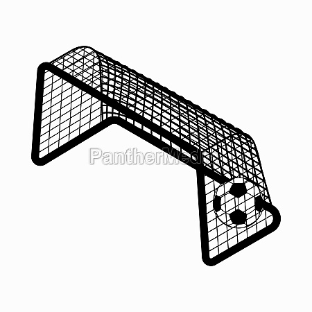 soccer goal with ball icon